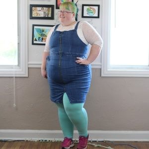 City Chic denim zip dress